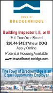 Building Inspector I, II, or III - Town of Breckenridge