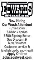Car Wash Attendant - Edwards Station
