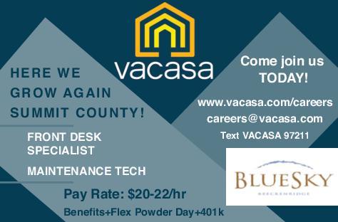 Front Desk Specialist, Maintenance Tech - Vacasa Blue Sky