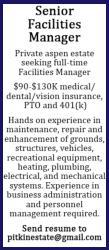 Building Facilities Manager - Private Aspen Estate