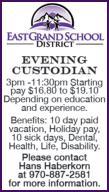 Evening Custodian - East Grand School District