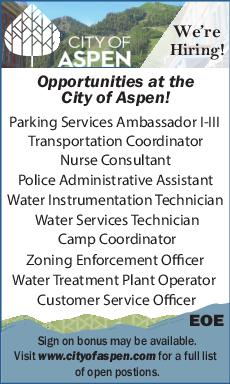 Opportunities at the - City of Aspen