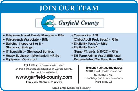 Various Positions - Garfield County