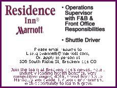 Operations Supervisor, Shuttle Driver - Residence Inn, Marriott