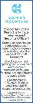 Security Officer - Copper Mountain Resort