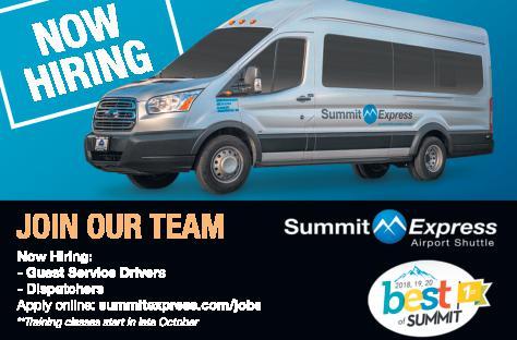 Guest Service Drivers, Dispatchers, Reservations Supervisor - Summit Express