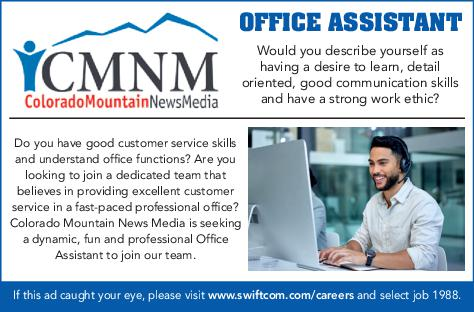 Professional Office Assistant - Colorado Mountain News Media