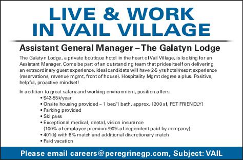 Assistant General Manager - The Galatyn Lodge