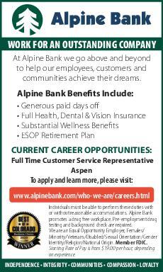 FULL TIME CUSTOMER SERVICE REPRESENTATIVE - Alpine Bank