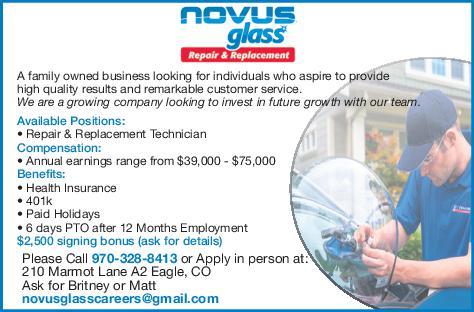 Repair & Replacement Technician  - Novus Glass